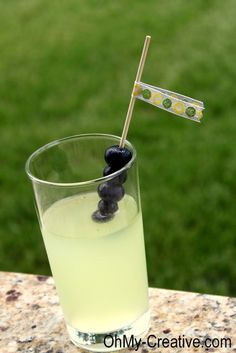 Summer Drink - Lemonade and Blueberry Vodka