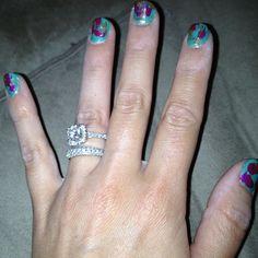 Artsy nails. Loving mint lately.