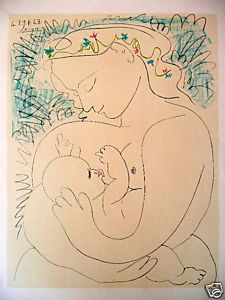 Pablo Picasso Maternity print for sale. Shop for Pablo Picasso Maternity painting and frame at discount price, ships in 24 hours. Cheap price prints end soon. Pablo Picasso, Kunst Picasso, Art Picasso, Picasso Drawing, Picasso Portraits, Georges Braque, Art And Illustration, Cubist Movement, Art Moderne