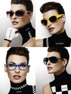 5f1577704e Linda Evangelista voor Chanel Eyewear Linda Evangelista