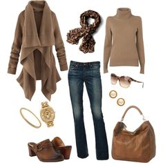 Cocoa anyone? by rothmank on Polyvore featuring Jaeger, Frye, Yves Saint Laurent, Juicy Couture, Tiffany & Co., Kate Spade, Diane Von Furstenberg and AG Adriano Goldschmied