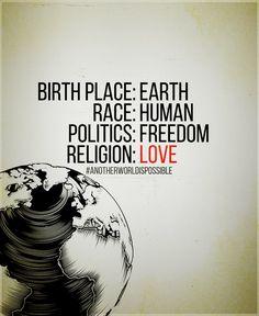 earth, human, freedom, love