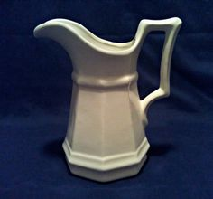 Vintage Neoclassical Octagonal Whiteware Pitcher - Circa Mid Century by AnchorLineVintage on Etsy