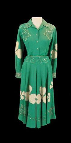 Dale Evans' Nudies Shamrock Dress Suit