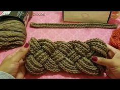 Diadema Trenzada A Crochet (Ganchillo) - YouTube