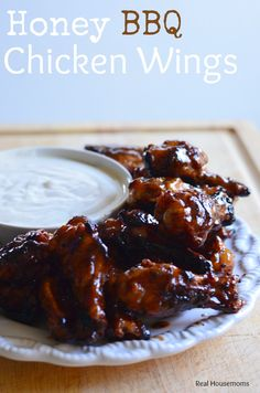 Honey BBQ Chicken Wings Real Housemoms #UltimateTailgatingParty on Southern Mom Cooks