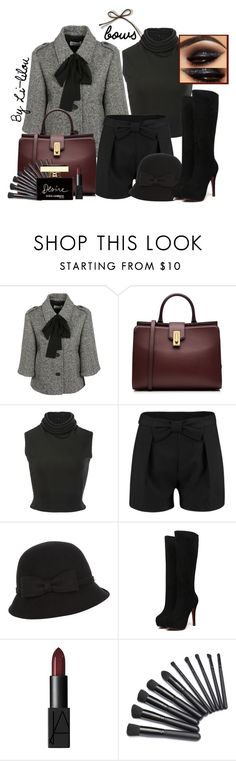 """""""Love..Bows"""" by li-lilou ❤ liked on Polyvore featuring RED Valentino, Marc Jacobs, Brandon Maxwell, Accessorize, NARS Cosmetics and Dolce&Gabbana"""