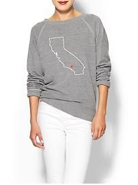 C&C California CA Map Sweatshirt