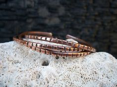 Trending SALE Solid Copper Notched Stacking Cuff by LaurelAndLime