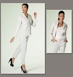 VOGUE  V1293    Misses' Jacket and Pants  Design your own Spring & Summer Outfit in many different colors sewing pattern