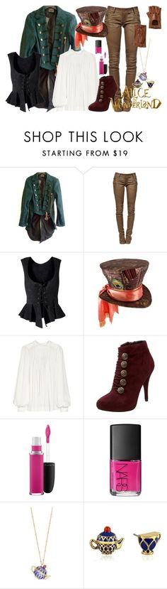 Mad hatter by fashion-nova ❤ liked on Polyvore featuring Balmain, Chloé, GUESS, MAC Cosmetics, NARS Cosmetics, Kate Spade and Portolano