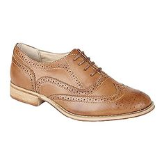 Boulevard Womens/Ladies Lace Brogue Shoes