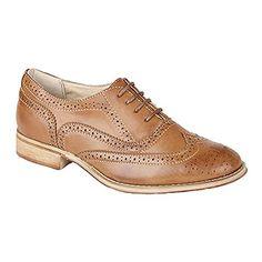 Boulevard Womens/Ladies Lace Brogue Shoes