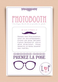affiche-photobooth-a-imprimer Art Deco Wedding, Diy Wedding, Wedding Day, Wedding List, Wedding Activities, Wedding Games, Wedding Photo Booth, Wedding Photos, Diy Birthday Decorations
