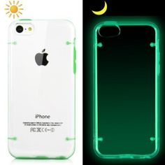 APPLE iCustomized (TM) Green and Translucent Glow in the Dark Luminous Premium Ultra Thin and Sleek Hybrid Hard Case for the NEW Apple iPhone 5C - AT&T, Verizon, Sprint