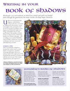 Book of Shadows: #BOS Writing in Your Book of Shadows page.