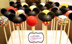 Mickey Mouse cake pops  www.facebook.com/cakepoppin
