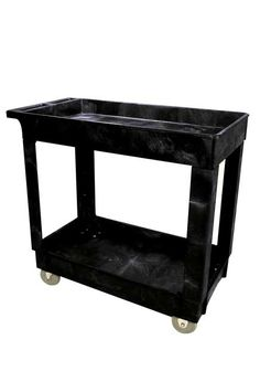 """Utility Carts with 2 shelves 31"""" x 34"""": Heavy-duty Mobile Cart"""