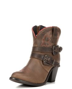 "Dingo | Women's Bridget 6"" Double Buckle & Zipper Boot 