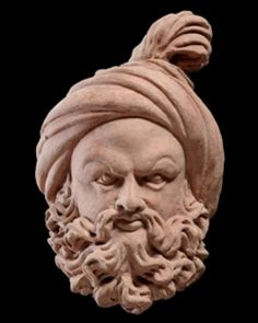 Afghanistan buddha bactrian head