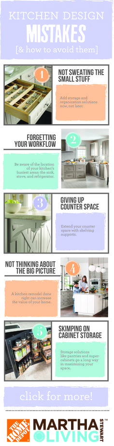 Don't make these kitchen renovation mistakes! Learn how to avoid them from #MarthaStewartLiving.
