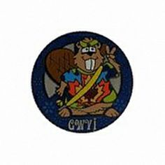 Geocaching / Geocoin lapel pin: GeoWoodstock 6, Beaver Dude goes GWVI