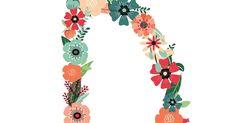 Floral D copy. Paper Quilling Patterns, Alphabet Fonts, Nooks, Printables, Floral, Day Planners, Lyrics, Print Templates, Flowers