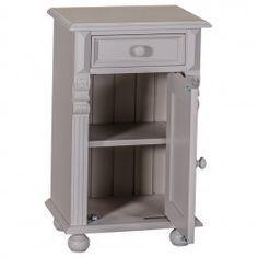 Table chevet 1 porte 1 tiroir en bois massif ''Midland''
