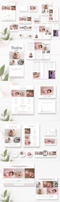 Gift Certificate Template, Newborn Photography Template, Photoshop - photography gift certificate template