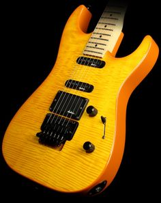 1989 Charvel Classic 375 Deluxe Electric Guitar Transparent Amber