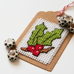 New xmas tree diy paper gift tags Ideas Stitching On Paper, Cross Stitching, Cross Stitch Embroidery, Cross Stitch Patterns, Xmas Cross Stitch, Cross Stitch Needles, Cross Stitch Cards, Paper Gifts, Diy Paper