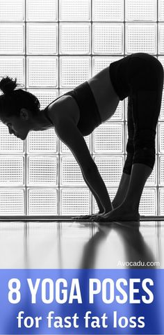 Yoga workouts are great for healthy living and even weightloss.  These 8 yoga poses are great for beginners or advanced yogis. Lose weight quick with these 8 yoga poses! avocadu.com/...