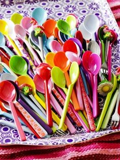 Set Of Melamine Spoons By Big Little House - contemporary - flatware - Not on the High Street