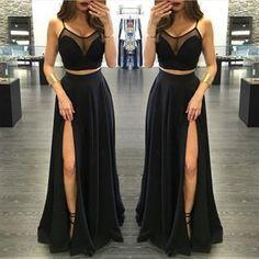 Bg496 Charming Prom Dress,Two Piece Prom Dress,Black Prom: