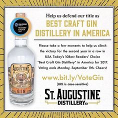 #Locallove @oldcitypr  It's been a busy day working with @staugustinedistillery to get the word out about this year's USA Today 10Best competition. As usual great design by @spacecampco. Take a minute and vote won't you? #staugustine #travel #florida @usatodaytravel @usatoday #drinks @staugustinedistillery