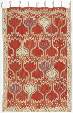 Ann-Mari Forsberg, wall hanging Red Crocus, 1945. Sweden. Via Cooper Hewitt