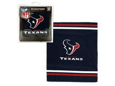 """Houston Texans Microfiber Eyeglass Cleaning Cloth, 48 - Support your favorite team while keeping your glasses clean with this NFL licensed Houston Texans Microfiber Cleaning Cloth featuring a soft polyester cloth printed with the Texans logo and colors. High density microfiber cleaning technology removes all dirt and oily smudges. Safe for all lenses including plastic, glass and AR coated lenses. Measures approximately 7"""" x 6"""". Comes packaged to a hanging panel.-Weight: 0.0488/unit"""