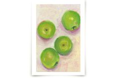 Green Apples by Lindsay Megahed at minted.com