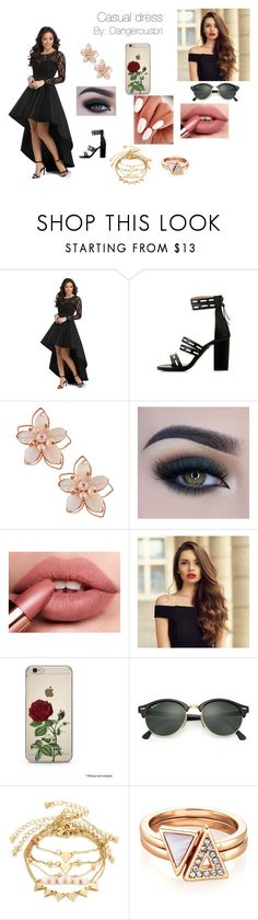 """Little Black Dress"" by dangerousbri on Polyvore featuring NAKAMOL, Too Faced Cosmetics and Ray-Ban"