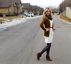 Layers: Fall outfit, black brown and white
