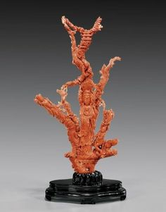 Massive Antique Carved Coral Group