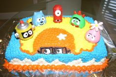 Those dang bath toys on top are $30 on Amazon....  Yo Gabba Gabba Birthday Cake