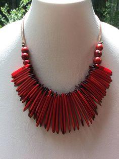 Collar de tagua Ecofriendly collar collar de nuez de Tagua