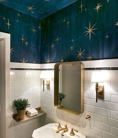 Dark Bathrooms, Vintage Bathrooms, Diy Bathroom, Bathroom Furniture, Bathroom Ideas, Modern Bathroom, Minimal Bathroom, Mirror Bathroom, Gold Bathroom