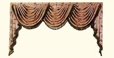 Luxury Valance for Window Curtains/ Treatment Customized Ready Made Curtains Valance only