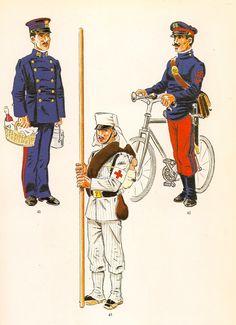 Nº 41.- Asistente.1908-26.   Nº 42.- Ciclista.1908-26.   Nº 43.- C...
