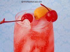 Orange Dirty Shirley With Orange Vodka, Grenadine, Sprite, Orange Slice, Cherry Vanilla Vodka Drinks, Vodka Cocktails, Cocktail Drinks, Martinis, Cocktail Recipes, Summer Drinks, Fun Drinks, Alcoholic Drinks, Beverages