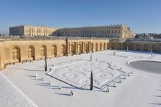 The parterre of the Orangerie in Winter. Gardens and Park of the Château - Palace of Versailles