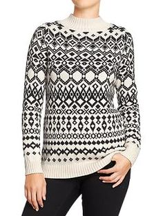 Old Navy Mock Turtleneck Tunic sweater $19 (orig $39.95)  I saw an old lady wearing this recently.. feels too much like a holiday sweater now..