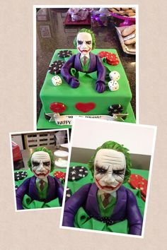 """Why so serious?"" - The Joker inspired Birthday Cake by CakeStar.ca :D"